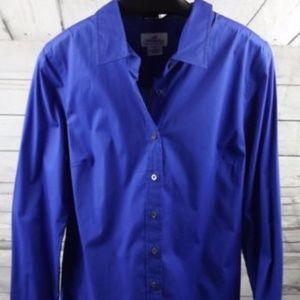 New J Crew Tall Perfect Shirt 29937 Bright Blue